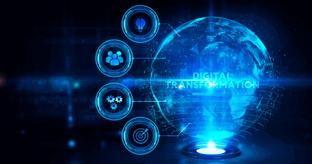 holograma con palabra transformación digital